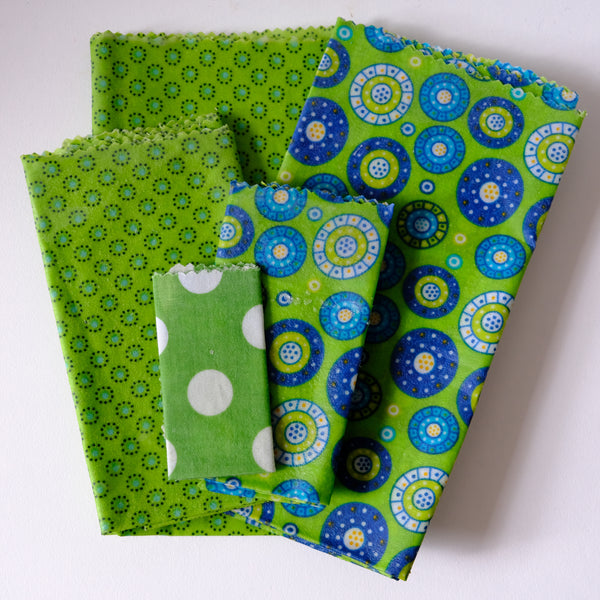 Beeswax food wraps, big pack