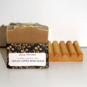 mocha coffee bean scrub natural soap