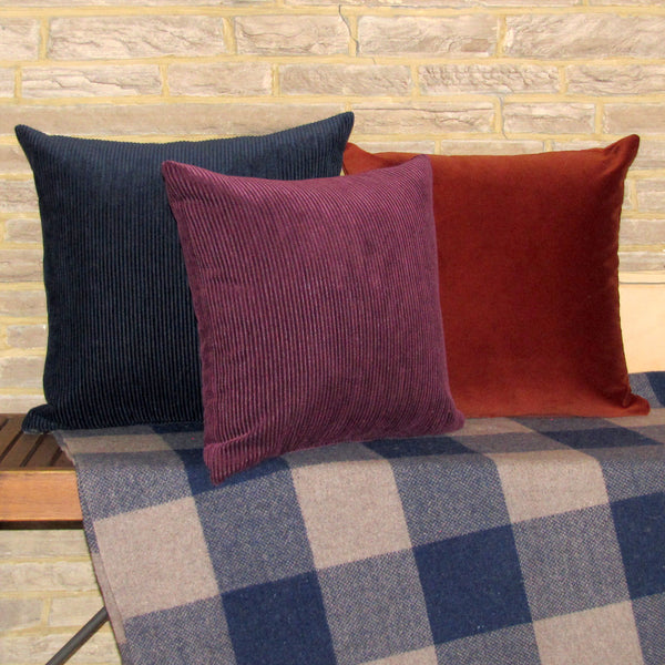 navy blue corduroy cushion cover
