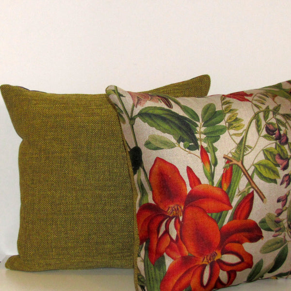 Made to order Bristol Pickle linen blend cushion cover