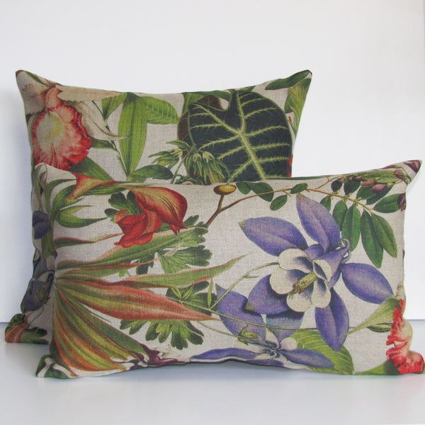 Twining linen cushion cover