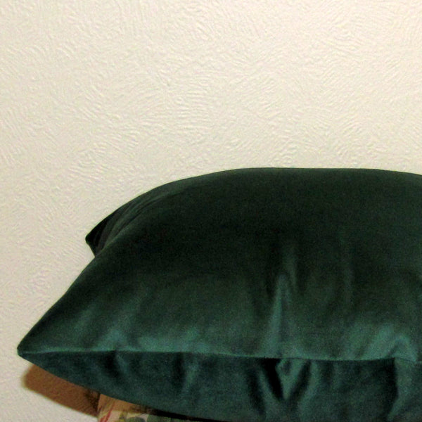 Emerald green velvet cushion cover