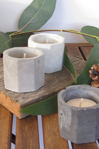 Unscented soy wax tealight candles, set of 6