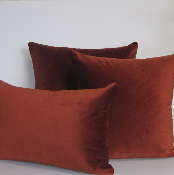 Copper velvet cushion cover