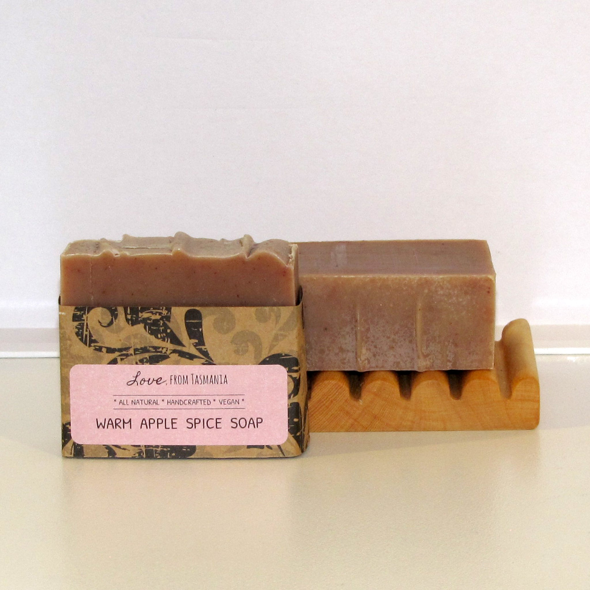 warm apple spice natural soap