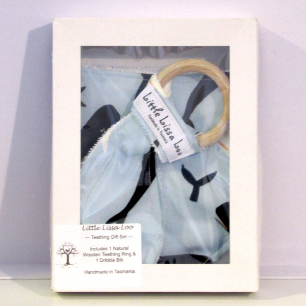 whales teething gift set