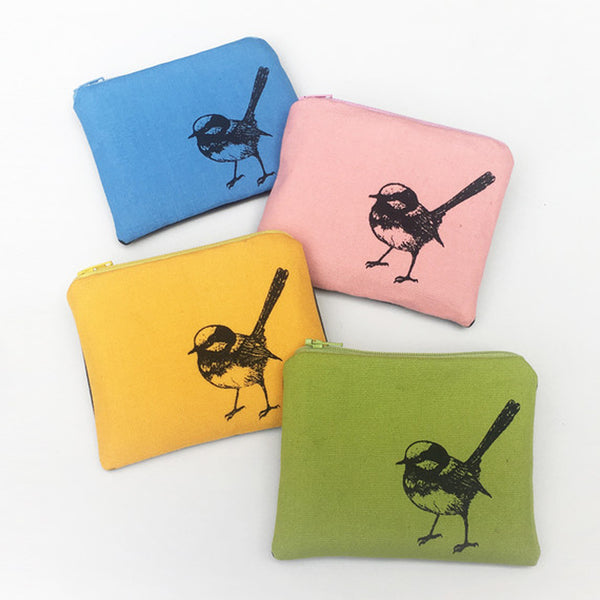 fairy wren coin purse
