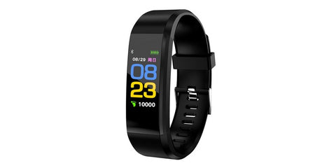 ID115 Plus Smart Watch/Bracelet Pedometer Fitness Tracker - Black