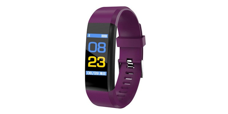 ID115 Plus Smart Watch/Bracelet Pedometer Fitness Tracker - Purple