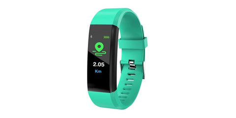 ID115 Plus Smart Watch/Bracelet Pedometer Fitness Tracker - Turquoise