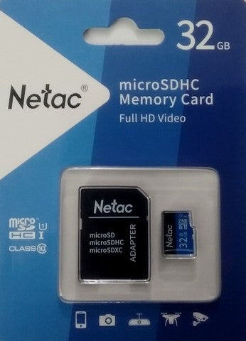 Netac 32GB UHS-I U1 Class 10 Micro SDHC/SD Memory card with adapter