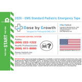 2020 Dose By Growth EMS Standard Pediatric Emergency Tape