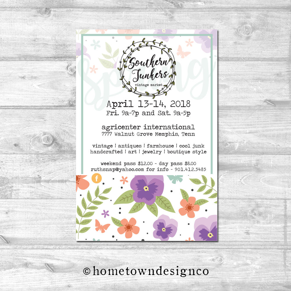 Spring Pansy Barn Sale Invitation