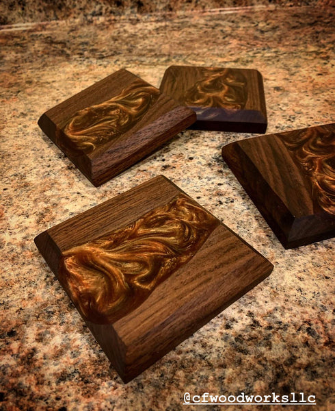 river epoxy coasters