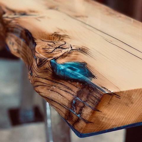 epoxy resin voids in wood and cracks