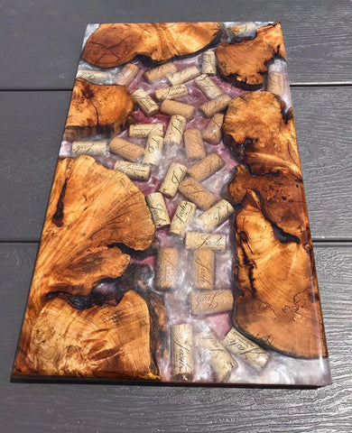 Epoxy Resin, Wood and Used Bullets Idea for cutting board