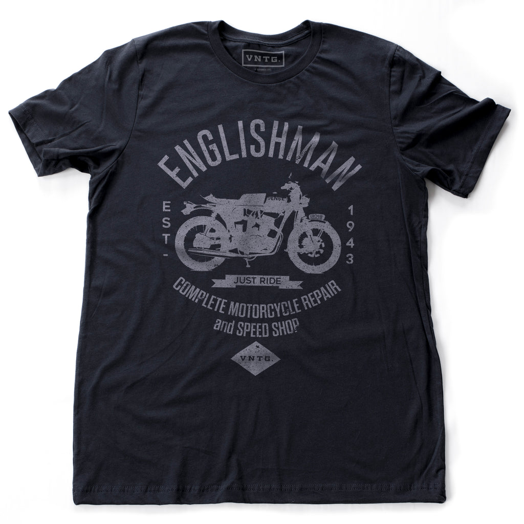 Englishman Motorcycle Repair and Speed Shop — Short-Sleeve Unisex T-Shirt