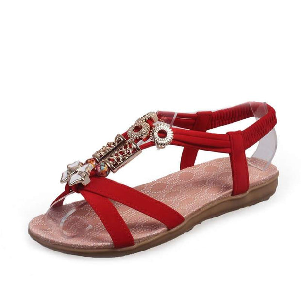 Women Summer Solid Suede Set Foot Toe Sandals