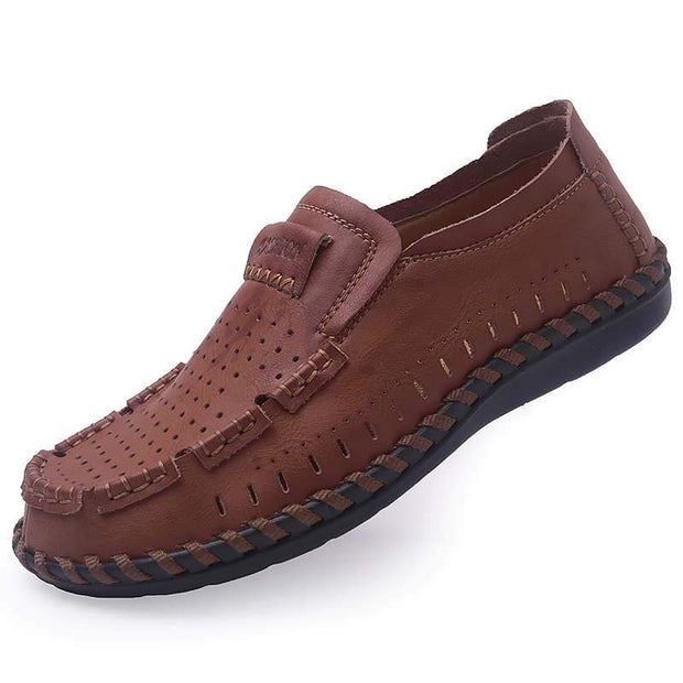 Men's Genuine Leather Flats Casual Shoes
