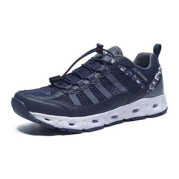 Men Mesh Fabrics Round-Toe Breathable Athletic Shoes