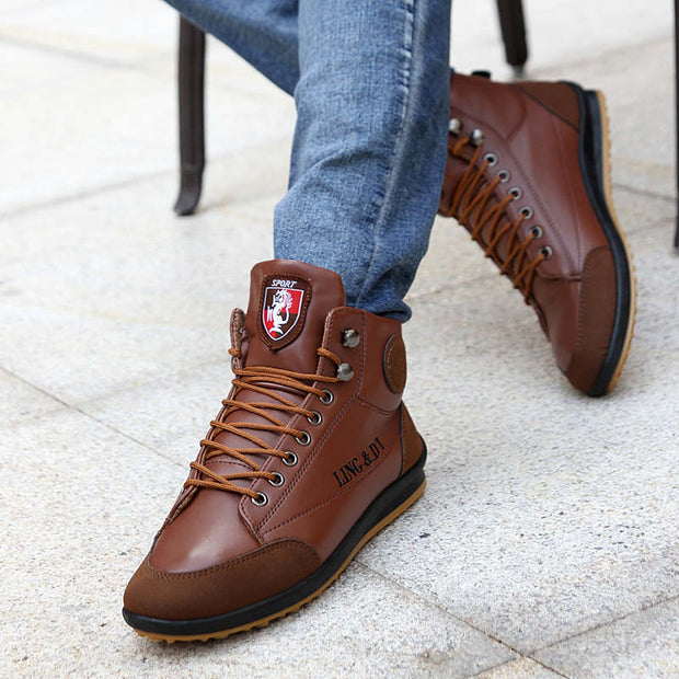 Men's Round-Toe Autumn Non-slip Keep Warm Flats Casual Shoes