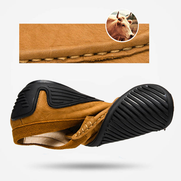 Men's Fashion Genuine Leather Non-slip Solid Casual Shoes