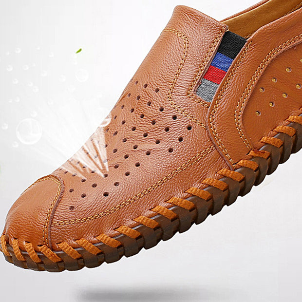 Men's Summer Solid Breathable Round Head Casual Shoes