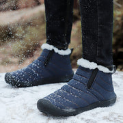 Men's Waterproof Anti-slip Round-Toe Plush Snow Boots