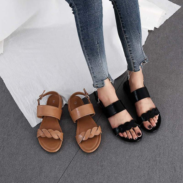 Women's Roman Braided Open Toe Sandals