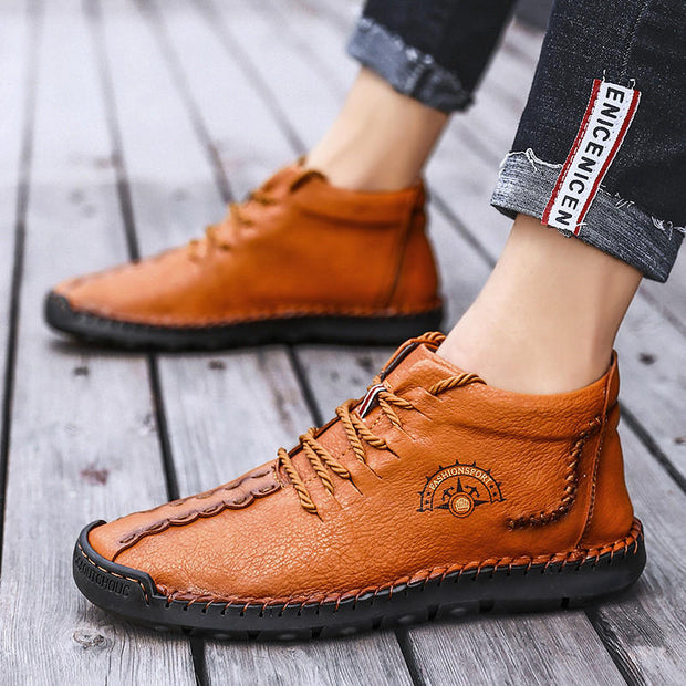 "Men's Fashion solid  Breathable Lace Round Casual Shoes(10% Off with Code ""TT10"" )"
