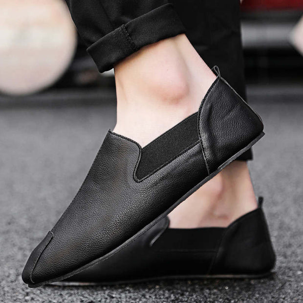 Men's Summer Solid Flats Durable Casual Shoes