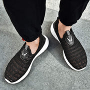 Men Summer Mesh Fabrics Solid Hollow Out Casual Shoes Flats
