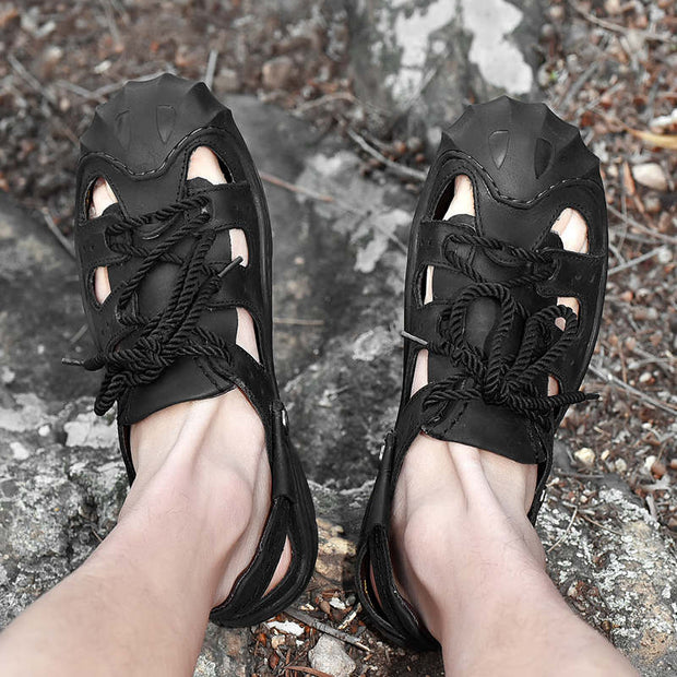 Men's Summer Lace-up Breathable Sandals