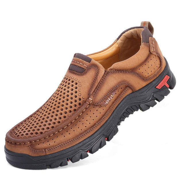 Men Fashion Genuine Leather Non-slip Casual Shoes