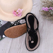 Women Summer Solid Soft Suede Set Foot Toe Sandals