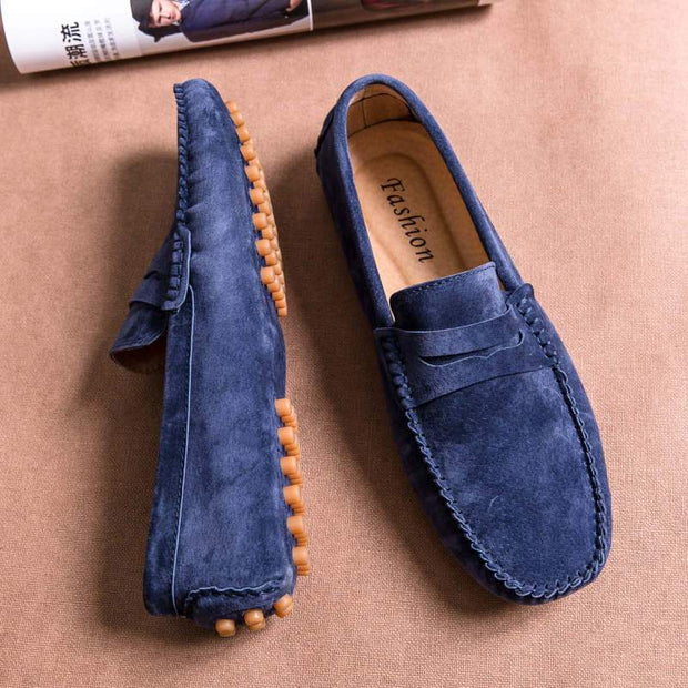 Men's Rubber Leisure Vintage Slip On Loafers
