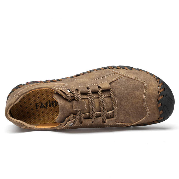 Men Suede Non-slip Outdoor Round-Toe Flats Casual Shoes