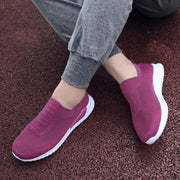 Women's Solid Round Head Straps Set Of Feet Breathable Casual Shoes