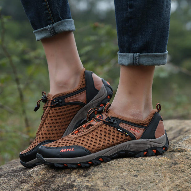 Men's Breathable Mesh Fabrics Non-slip Outdoor Athletic Shoes