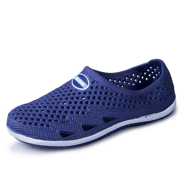 Men's Summer Hollow Out Round-Toe Flat Casual Shoes
