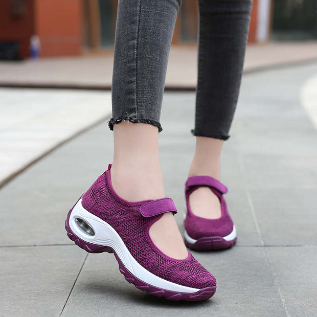Women Summer Mesh Fabrics Breathable Hollow Out Casual Shoes