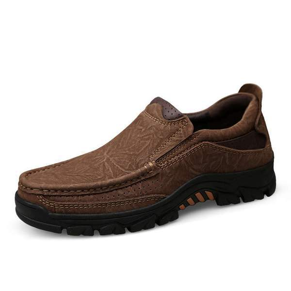Men's Micro Fiber Leather Flats Casual Shoes