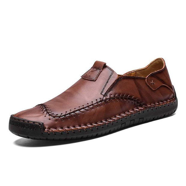 Men's Hand Stitching Non-Slip Casual Loafers