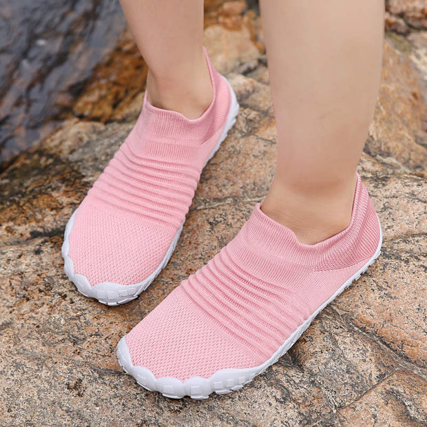 Women Summer Non-slip Breathable Mesh Fabrics Flat Shoes