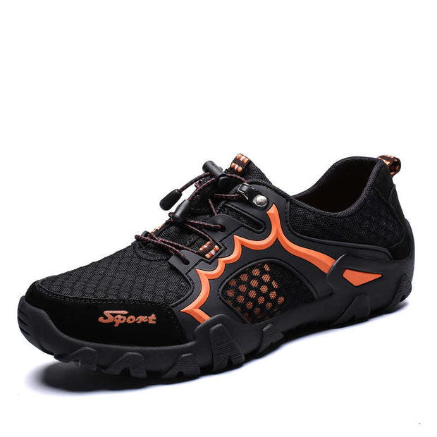 Men Soft Mesh Fabrics Non-slip Outdoor Athletic Hiking Shoes