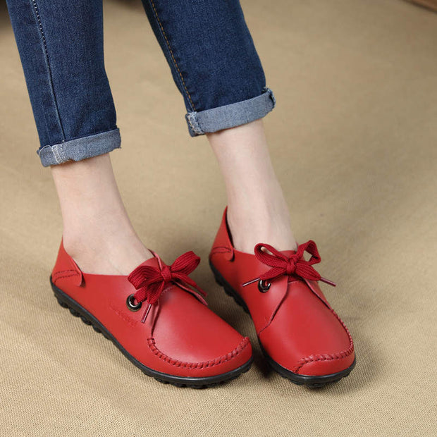 Women's Casual Round Head Straps Soft Casual Shoes