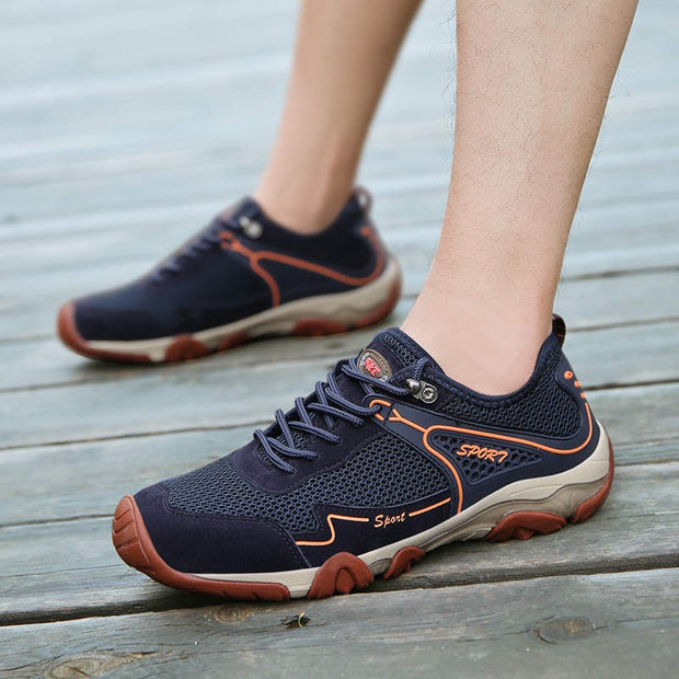 Men's Classic Mesh Round Head Strap Outdoor Casual Shoes
