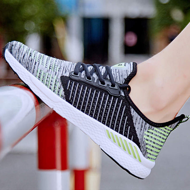 Men's Soft Breathable Mesh Fabrics Non-slip Casual Shoes Flats