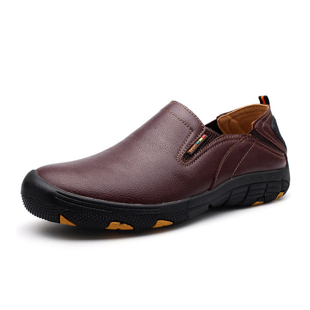 Men Solid Breathable Round-Toe Non-slip Flats