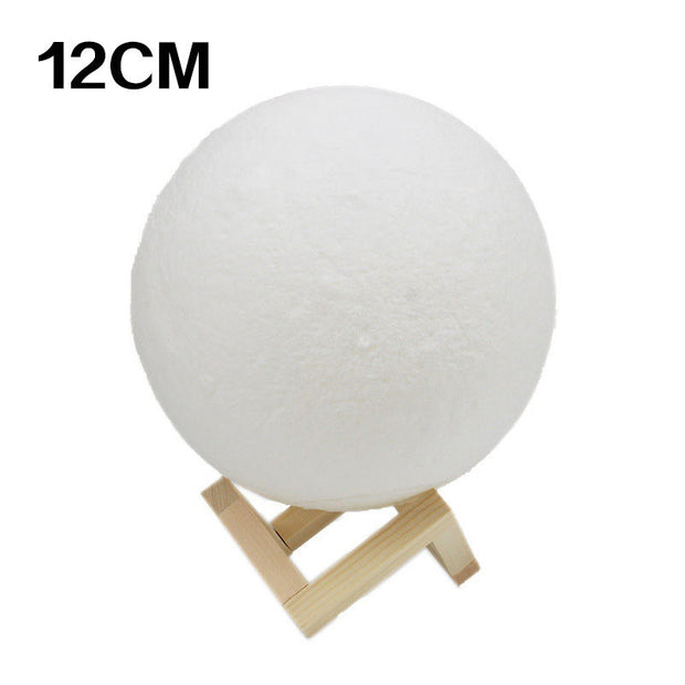 Fashion Long Battery Life Charging 3D Printing Moon Light
